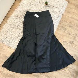 Banana Republic Charcoal Ruffle Maxi Skirt Size 4